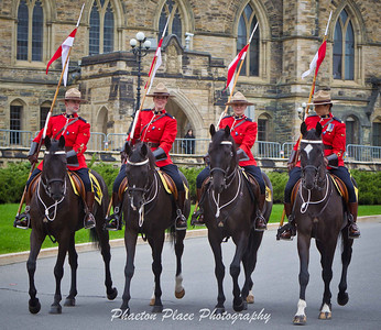 Royal Canadian Mounted Police Riders on Parliament Hill