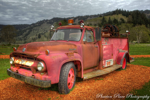 Antique Derelict Fire Truck